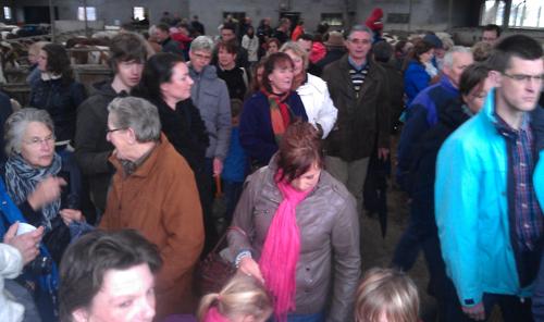 Veel belangstelling voor de open boerderijdag in Nijkerk.