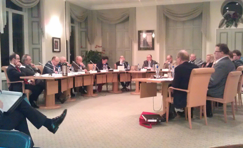 De gemeenteraad bijeen, maandagavond.