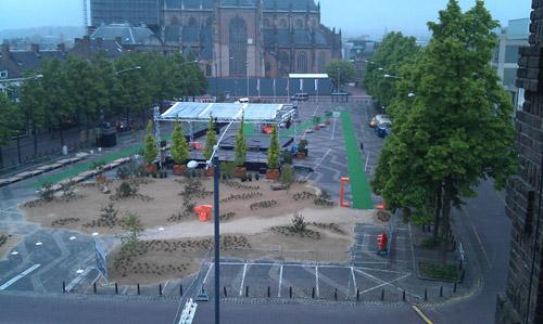 Markt koningsbezoek Arnhem