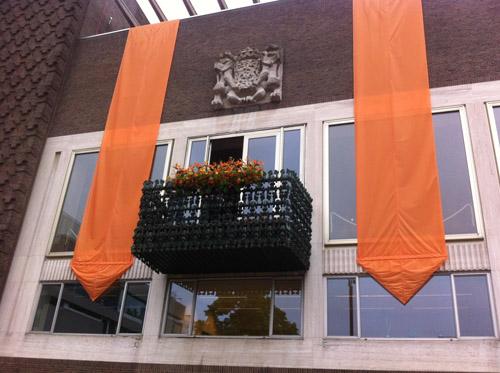 Balkon Arnhem koningsbezoek