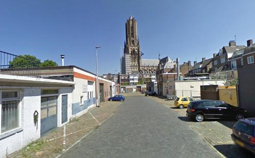 Kijkje vanaf het Paradijs anno nu richting de Eusebiustoren.
