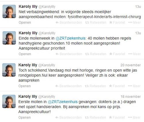 Enkele tweets naar aanleiding van de actie.