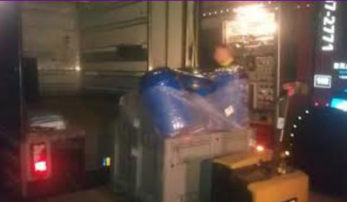 Ede, 18 oktober: de chemicaliën worden afgevoerd.
