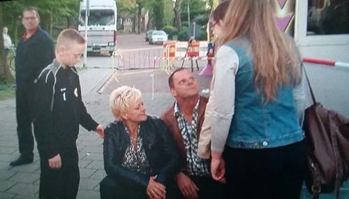 Foto: Jan Bulten en gezin vlak na het incident